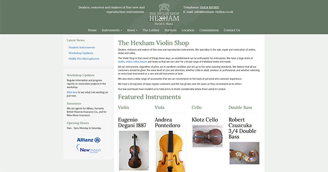 Hexham Violin Shop